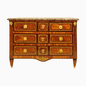 Large 18th Century French Louis XVI Marquetry Commode or Chest of Drawers