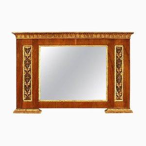 Italienischer Neoklassizistischer Spiegel aus Vergoldetem Wildleder, 19. Jh