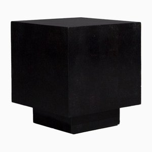 Vintage Cube-Shaped Side Table in Marble