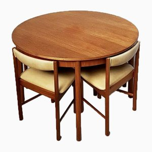 Mid-Century Space Saver Dining Table & Chairs Set from McIntosh, Set of 5