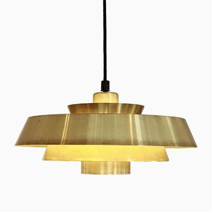 Brass Nova Pendant Lamp by Jo Hammerborg for Fog & Morup, 1960s