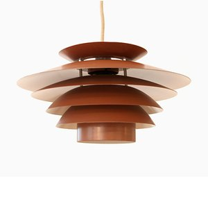 Vintage Danish Brown Pendant Lamp from Design Light, 1970s