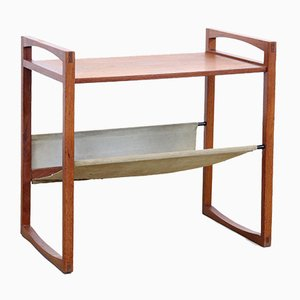Teak Side Table & Magazine Rack by Henning Wind Hansen for Sika Mobler, 1960s