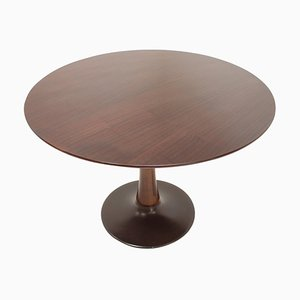 Beech Round Dining Table, Czechoslovakia, 1970s