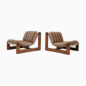Scandinavian Lounge Chairs, 1968, Set of 2