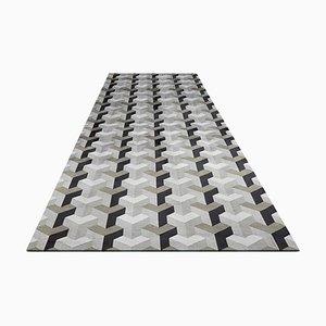 Large Handmade 3D Effect Silk Carpet by Verner Panton, 2017