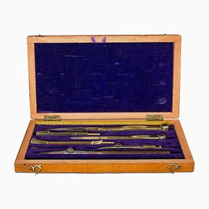 Vintage English Draughtsmans or Cartographers Drawing Set, 1950s