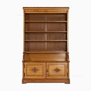 19th Century Oak Open Bookcase