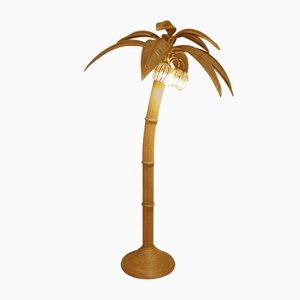 Lámpara de pie vintage de coco