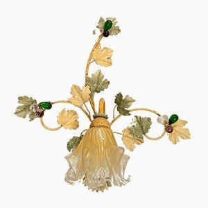Applique da frutta in vetro di Murano, anni '60, set di 2