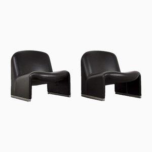 Vintage Skai Alky Chairs by Giancarlo Piretti for Castelli / Anonima Castelli, Set of 2