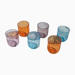Bicchieri vintage in vetro di Murano di Vestidello Luca per Vetrarti, 2004, set di 6