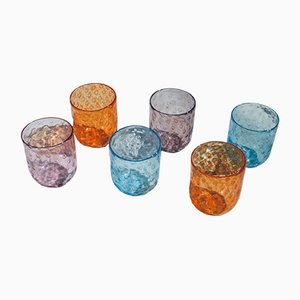 Vintage Murano Drinking Glasses by Vestidello Luca for Vetrarti, 2004, Set of 6