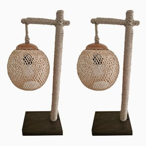 Rope Table Lamps, 2000s, Set of 2