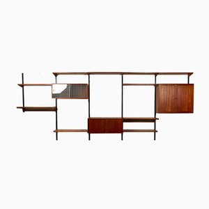 Vintage Danish Teak Wall Unit by Kai Kristiansen for Feldballes Møbelfabrik, 1960s
