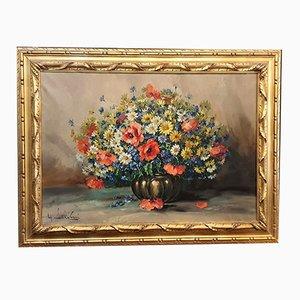 Wild Flowers in Vase von G. Salvini, 1950er