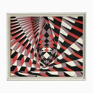 Französische Kinetische Malerei von Guy Pouppez, 1968