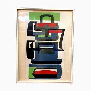 Nr. 209/300 Color Siebdruck von Jean Dewasne, 1950er