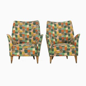 Mid-Century Lounge Chairs from ISA Bergamo, 1950s, Set of 2
