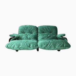 Französisches Vintage Marsala 2-Sitzer Sofa von Michel Ducaroy für Ligne Roset