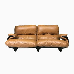 Vintage French Marsala 2-Seater Sofa by Michel Ducaroy for Ligne Roset