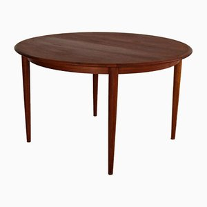 Vintage Danish Extendable Oval Teak Dining Table, 1960s