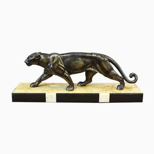 Art Deco Cast Iron Panther by Rochard, 1930s