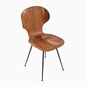 Esszimmerstühle aus Holz von Carlo Ratti, 1960er, 2er Set