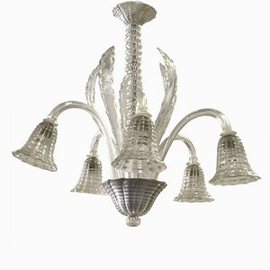 Vintage Hand Blown Murano Glass Chandelier