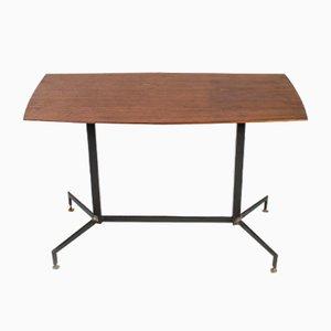 Metal and Wood Veneer Dining Table, 1970s
