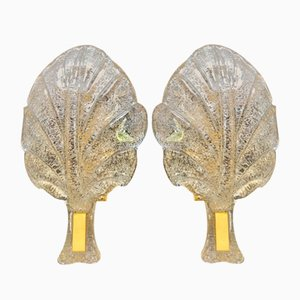 Gilded Sconces from Barovier & Toso, 1980s, Set of 2