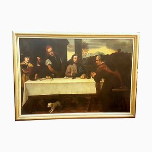 Antique Italian Dinner at Emmaus Painting