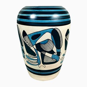 Italian Cubist Vase with Decor, 1950s