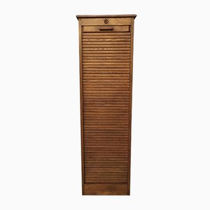Oak Tambour Cabinet, 1950s