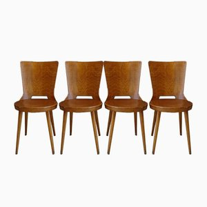 Vintage Dove Chairs from Baumann, Set of 4