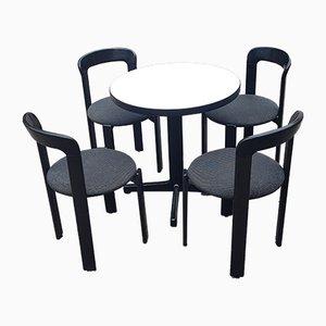 Schweizer Esstisch & Stühle von Bruno Rey für Kusch + Co, 1970er, 5er Set