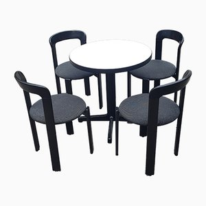 Swiss Dining Table & Chairs by Bruno Rey for Kusch+Co, 1970s, Set of 5