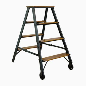 Industrial Folding Ladder, 1930s