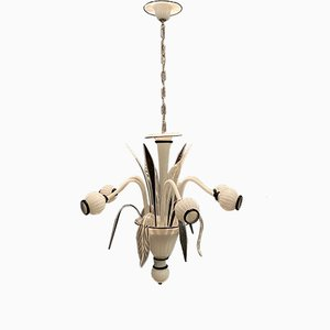 White and Black Murano Glass Architectural Chandelier by Paolo Venini, 1970s