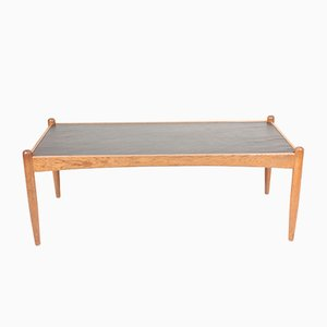 Oak Amiral Coffee Table with Slate Top by Eric Merthen, 1950s