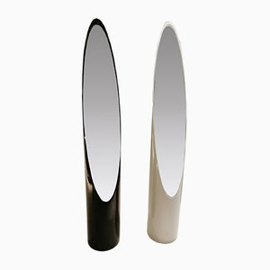Vintage Lipstick Floor Mirrors by Roger Lecal for Chabrieres & Co, 1970s, Set of 2