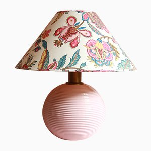 Vintage Italian Pink Ceramic Corallo Table Lamp, 1960s