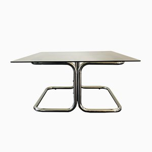 Vintage Italian Chrome and Smoked Glass Coffee Table, 1970s