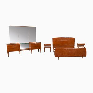 Vintage Bedroom Set by Paolo Buffa, Set of 4, 1940s