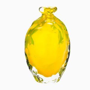 Yellow Murano Glass Dattero Vase by Stories of Italy