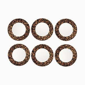 Leopardo Plates by Stories of Italy, Set of 6