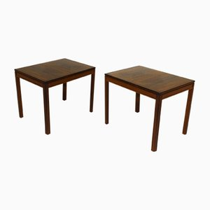 Rosewood Side Tables by Kaskad Engström & Myrstrand for Tingströms, 1960s, Set of 2