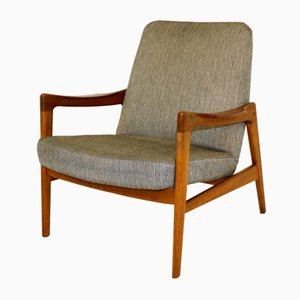 Swedish Teak and Oak Lounge Chair from OPE, 1960s