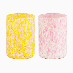 Macchia Su Macchia Pink Mix Glasses by Stories of Italy, Set of 2