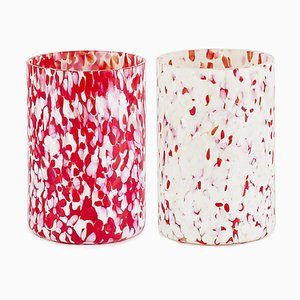 Macchia Su Macchia Red Mix Glasses by Stories of Italy, Set of 2